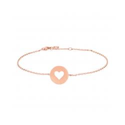 Valentin armbånd rosaforgyldt