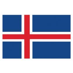 Islandsk flag til 40 cm bordflag