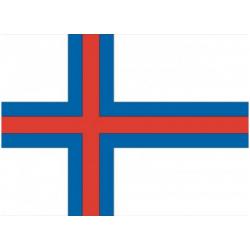 Færøske flag til 40 cm bordflag