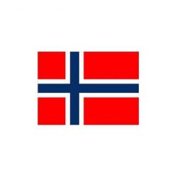 Norsk flag til 40 cm bordflag