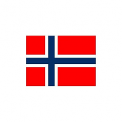 Norsk flag til 30 cm bordflag