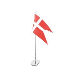 Forkromet bordflagstang 40 cm