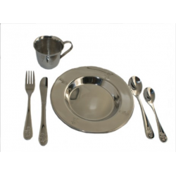 Bamse og Kylling sølv spisesæt