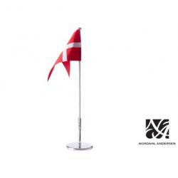 Sølv bordflagstang 40 cm