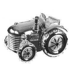 Forsølvet traktor sparebøsse