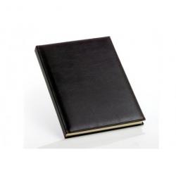 Klassisk brun gæstebog i kunstlæder