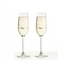 Diamant champagneglas