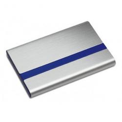 Kortholder metal med blå farve