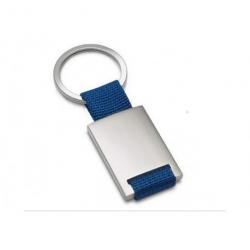 Nøglering med blåt bånd