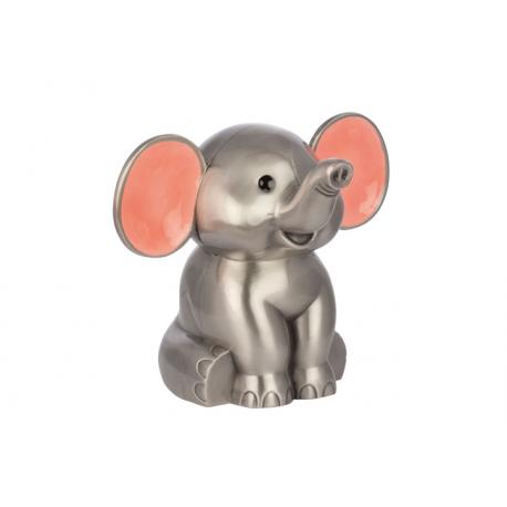 Elefant sparebøsse pink
