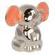 Pink elefant i sølv sparebøsse