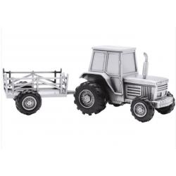 Fortinnet traktor med vogn sparebøsse