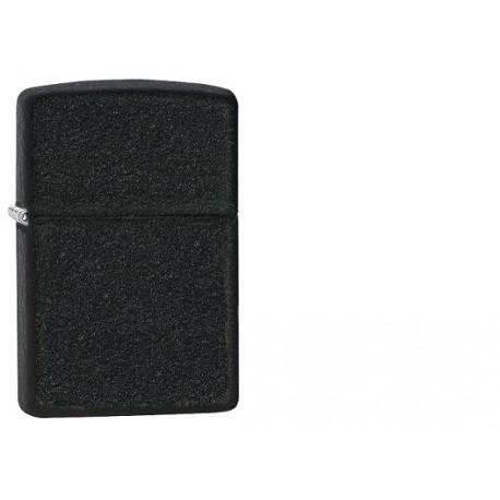 Zippo lighter i sort rå look