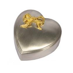 Hjerte smykkeskrin tin mellem